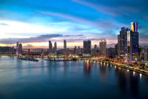 Panama Banks Panama Skyline