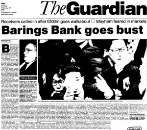 barings bank failure