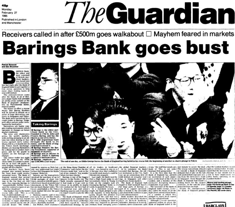 barings bank failure