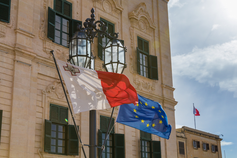 Malta business bank account flag